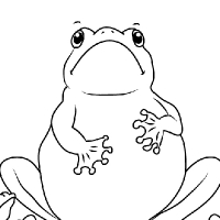 Coloring frog school