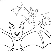 Coloring bat