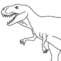 Coloring tyrannosaurus