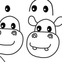 Drawing hippopotamus