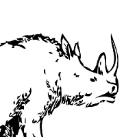 Coloring prehistoric rhino