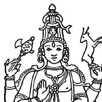 Coloring shiva