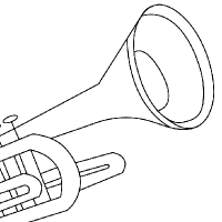 drawing of trumpet