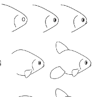 Drawing goldfish