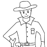 Coloring cowboy