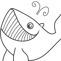 Coloring whale