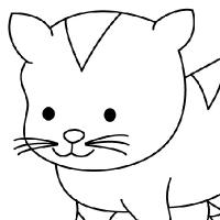 Coloring kitten