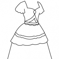 Drawing princess dress