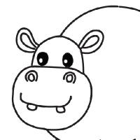 Coloring hippopotamus