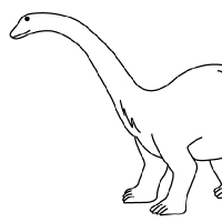 Drawing diplodocus for Diplodocus coloring page
