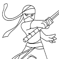 Coloring ninja