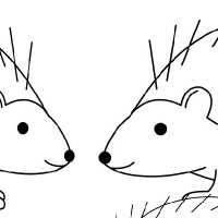 Coloring hedgehog